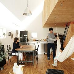 宙に浮かぶ構造体で広々LDKと店舗空間も実現した小住宅