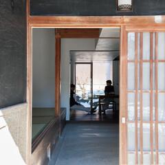 日本家屋の古いしつらえに倣う、光と陰影が交差する住まい