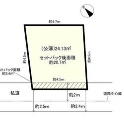 日影規制がある狭小地の3階建住宅の総床面積が知りたい