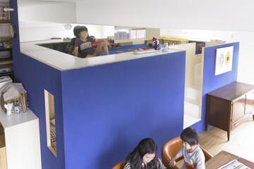 リビングは子供の秘密基地にもなる。「自由発想のリビング」販売中です。