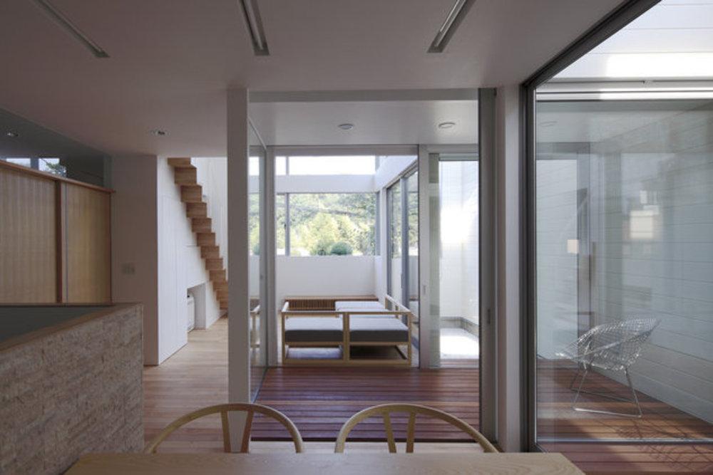 インナーテラスの家の建築事例写真