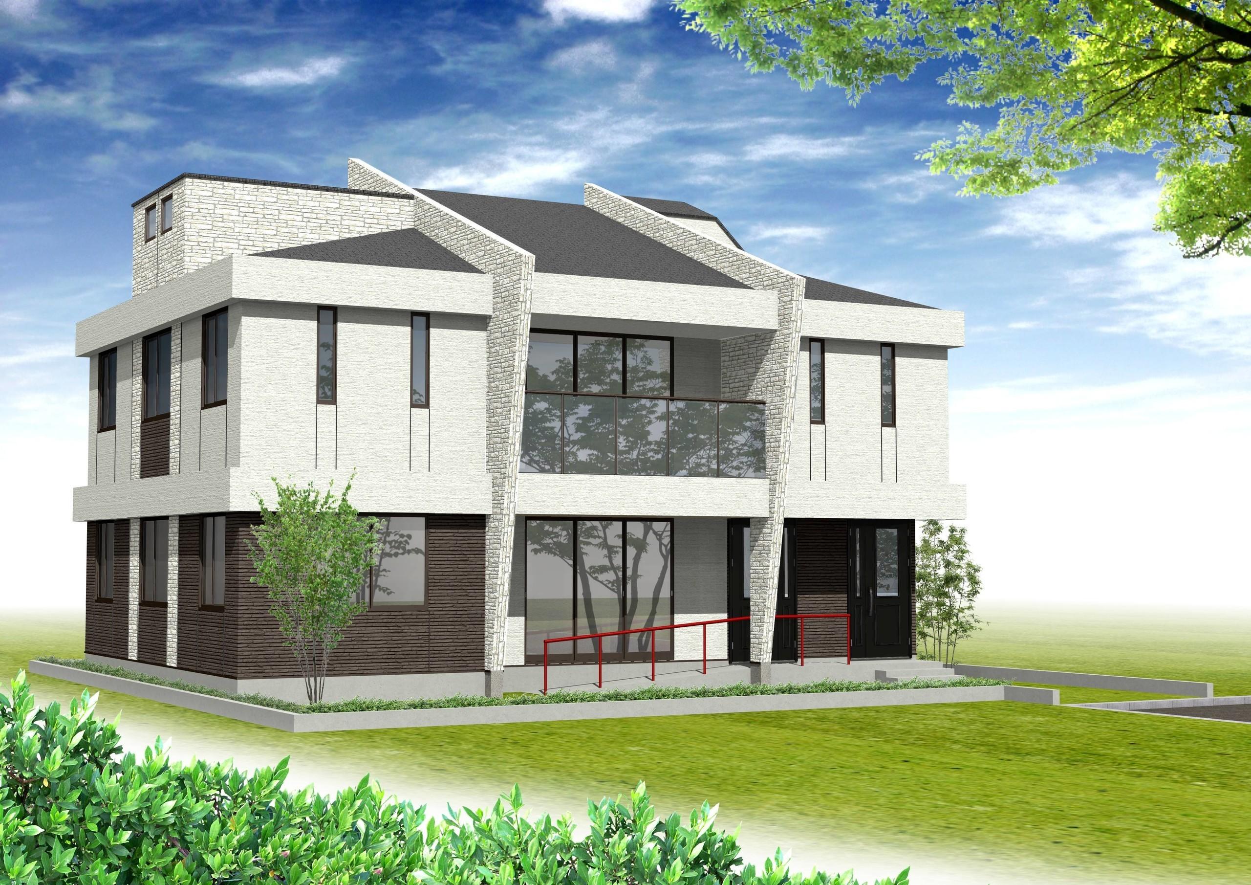 呂理探しからの屋上・ロフトのあるローコスト3世帯住宅の建築事例写真