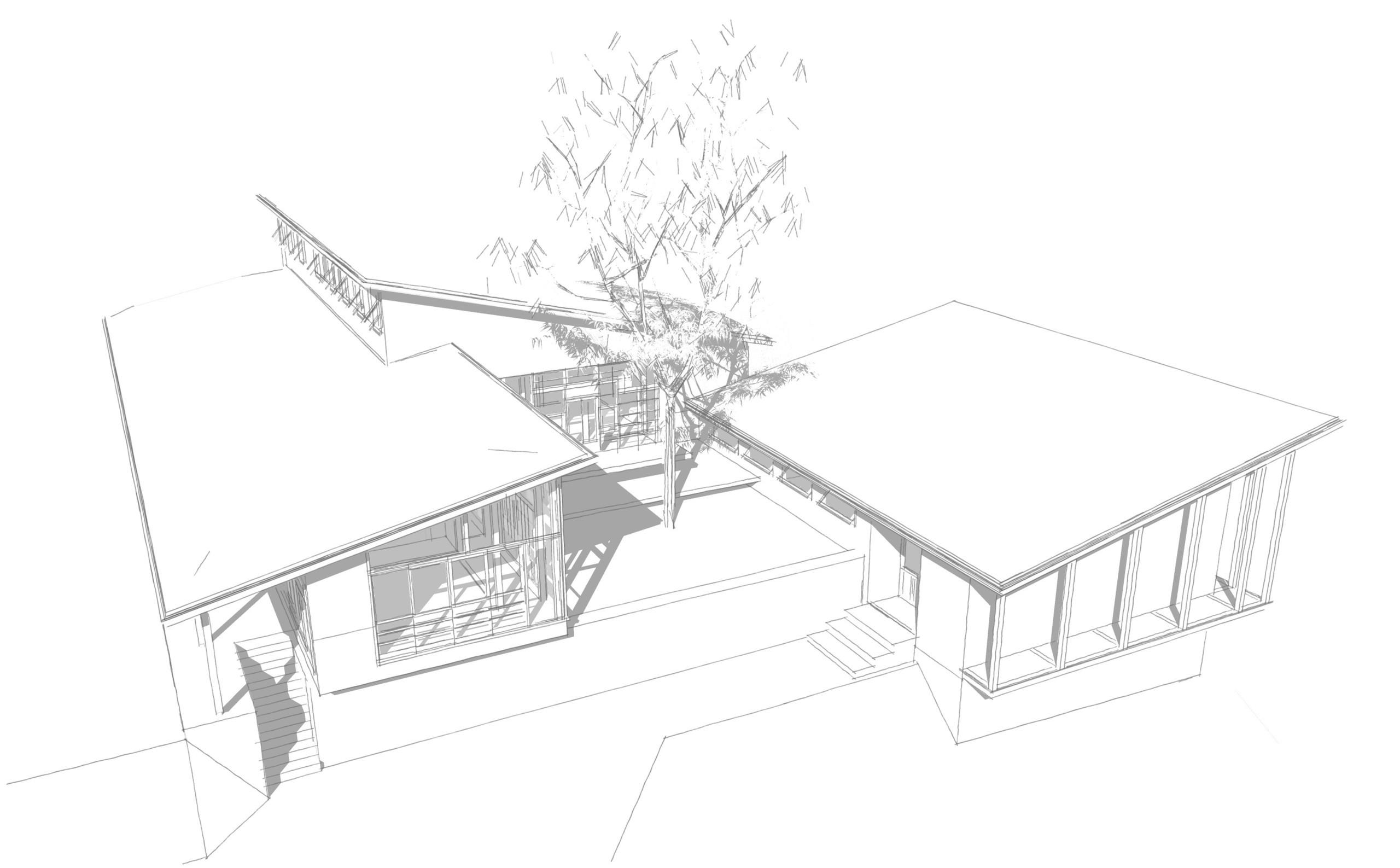 完成予想のパーススケッチです。 | 山の家
