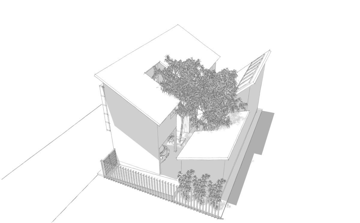 二合院住居の建築事例写真