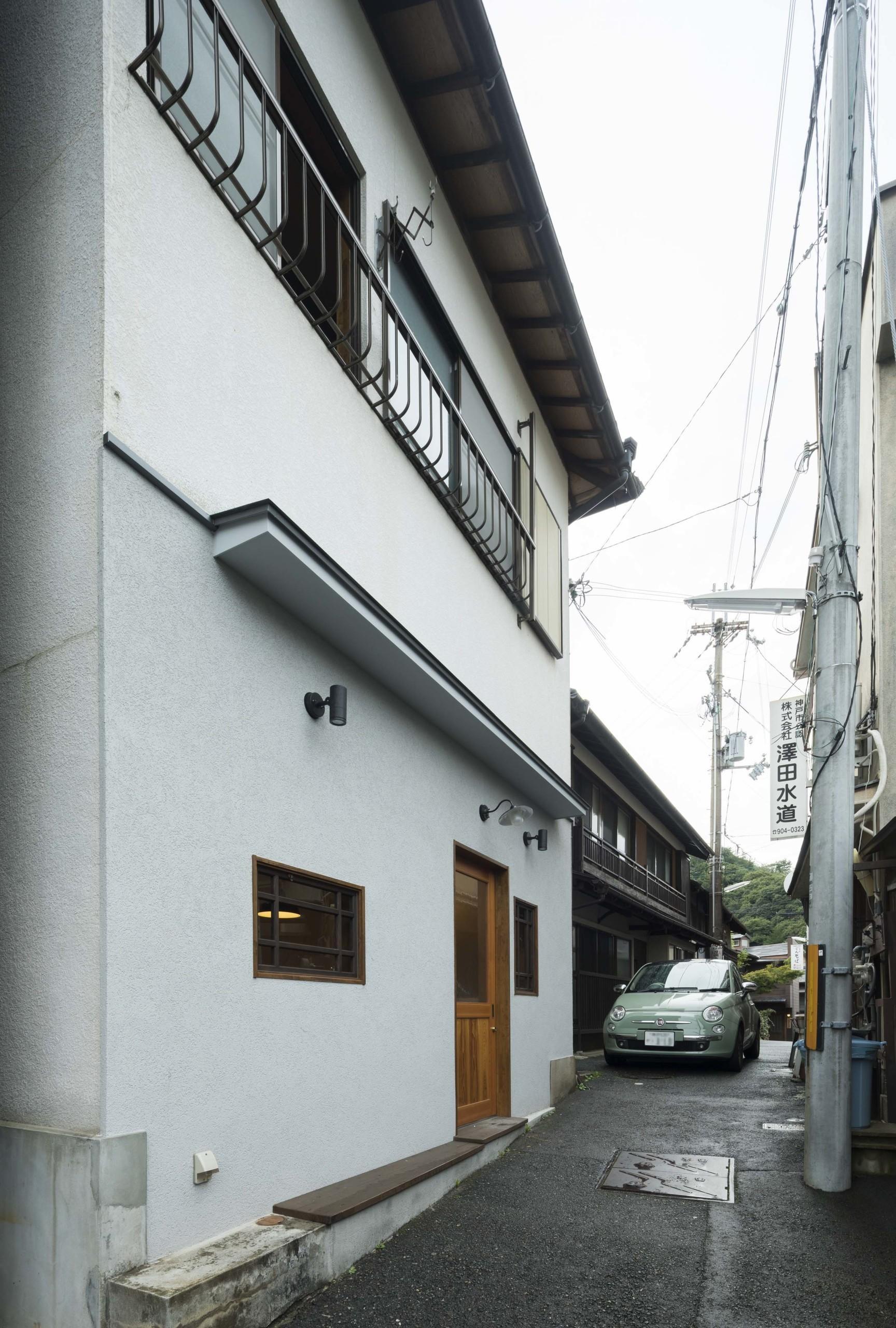 階段路地の家の建築事例写真