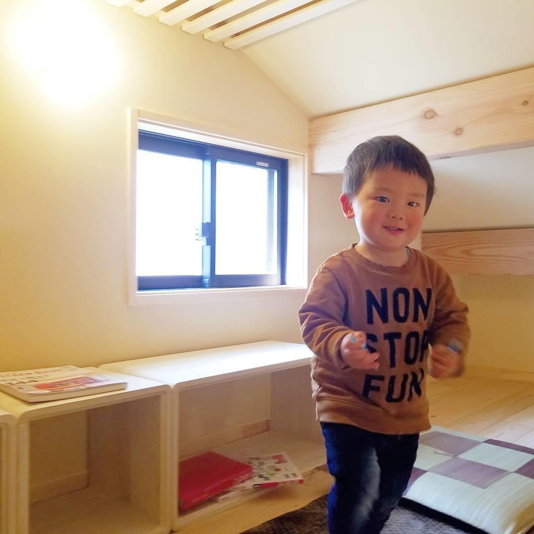平屋ロフト付 無垢の家 モデルハウス完成の建築事例写真