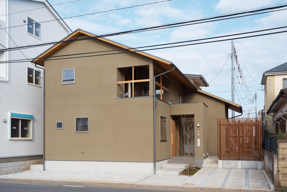 和モダンの家、本郷町の家の建築事例写真