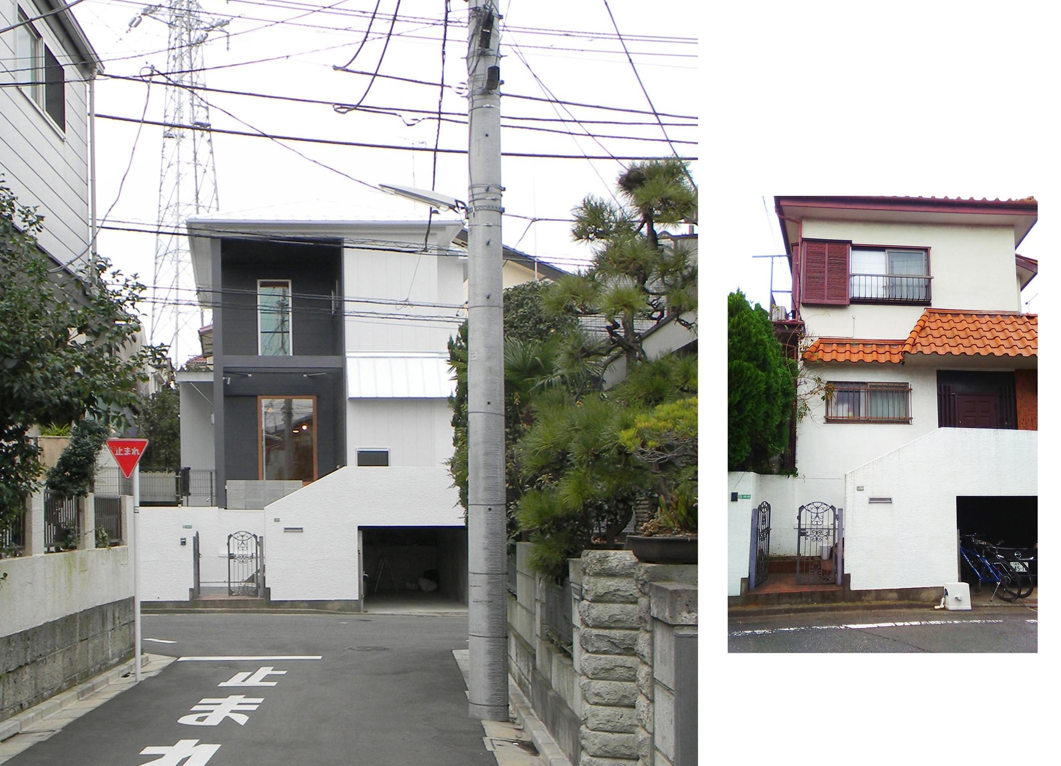 写真右:改修前 | ケシキガミエルイエ(リノベ、テラス、吹抜、シナ、ヒノキ)