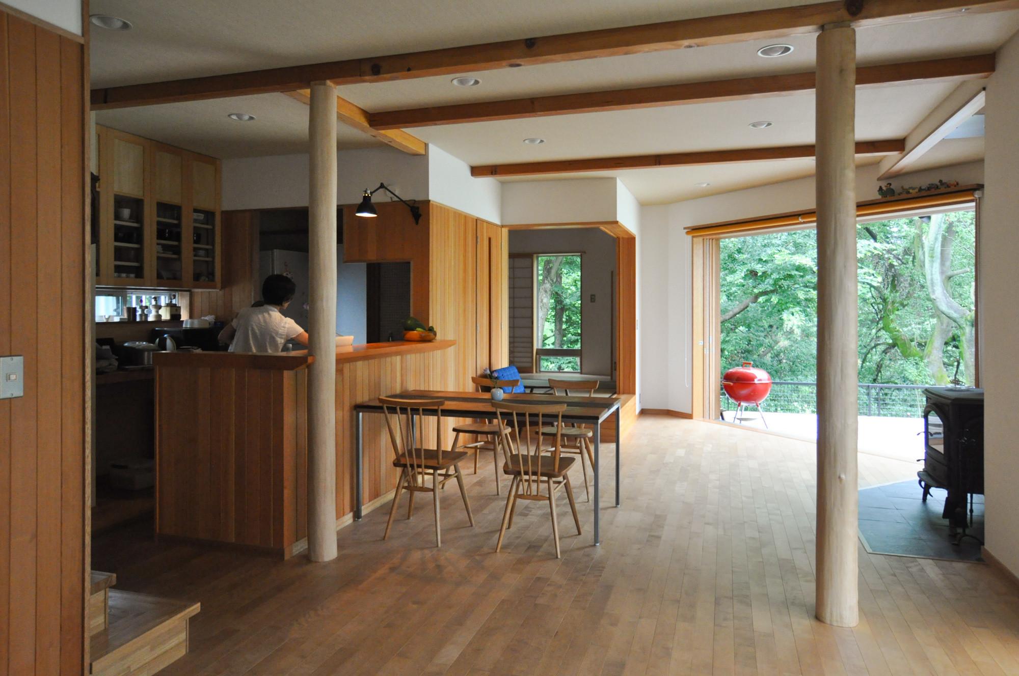 川と共に暮らす 高麗川沿い 子育ての家の建築事例写真