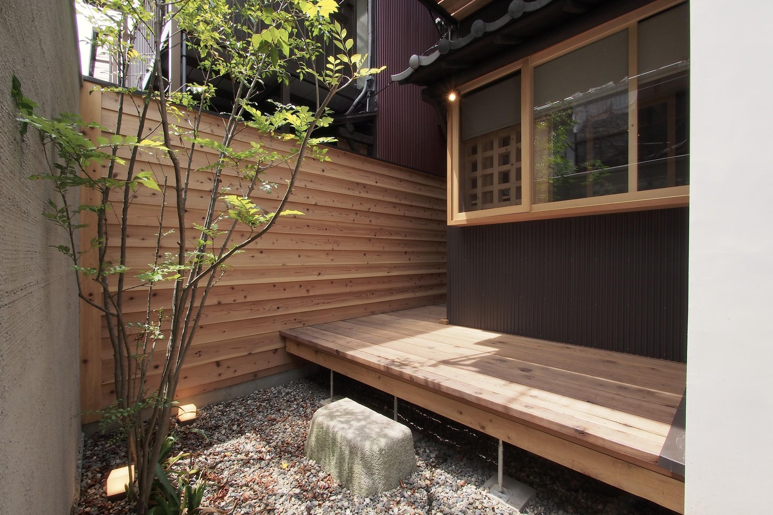 突抜の町家 | 素材の質感 京町屋リノベーションの建築事例写真