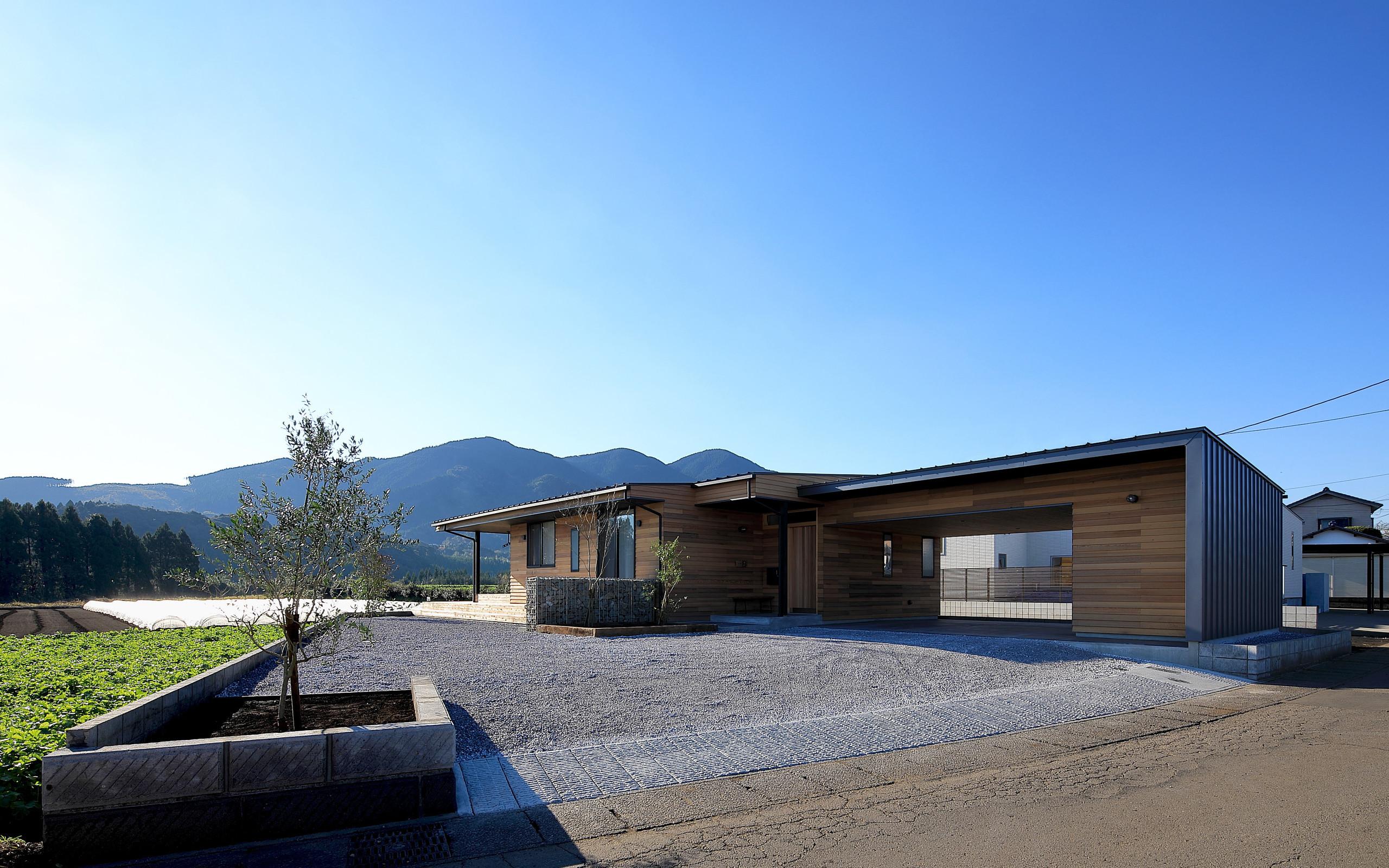 北東側外観 | 清武町の家~素材感を愉しむ家~