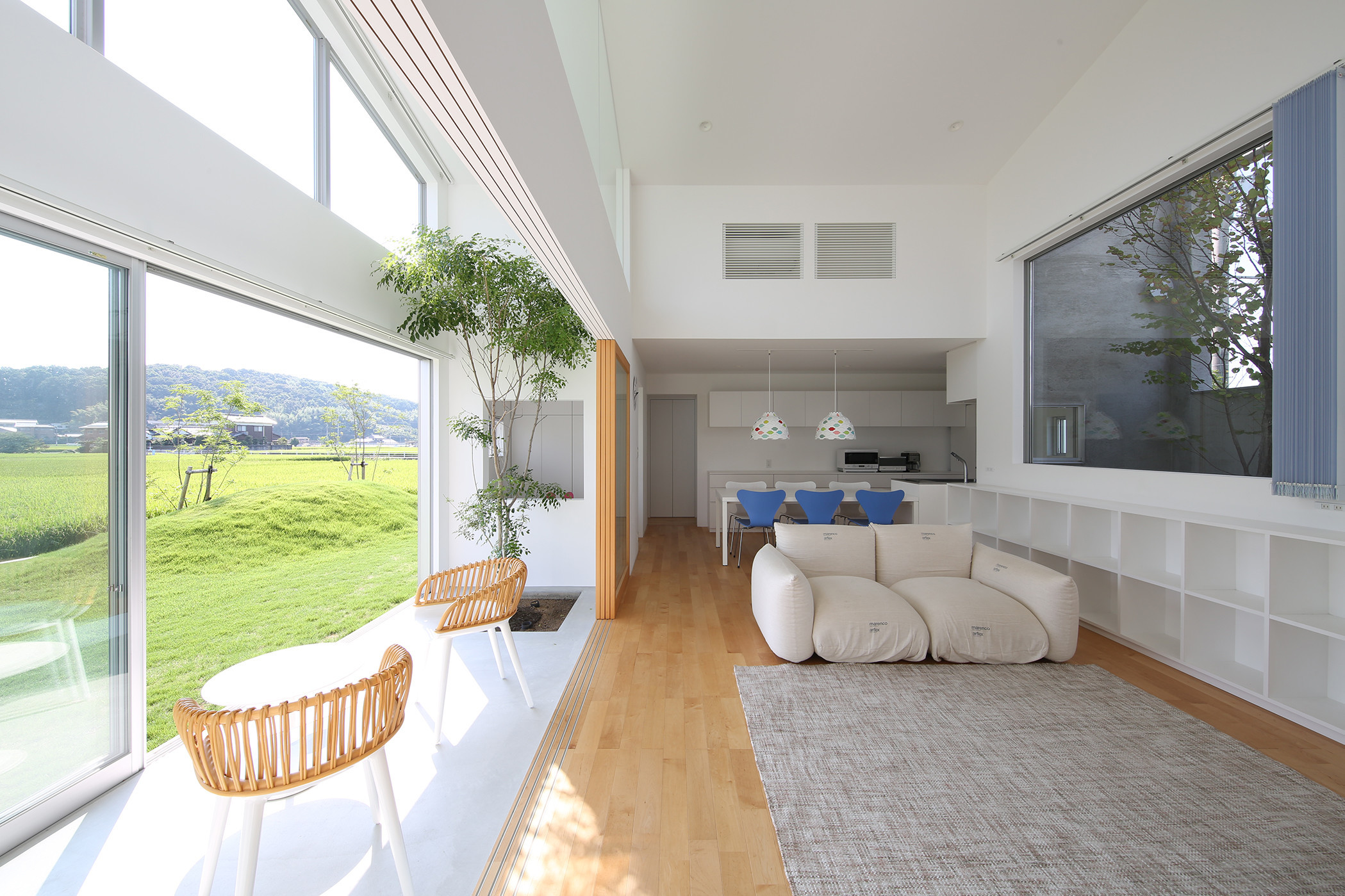 緑と共に暮らす家の建築事例写真
