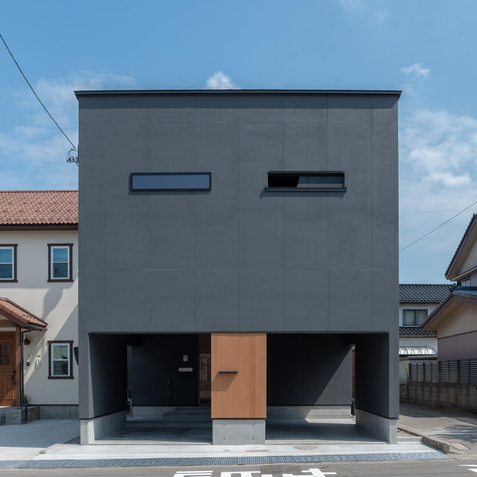 円光寺の家 内部と外部が繋がるミニマルな住宅の建築事例写真
