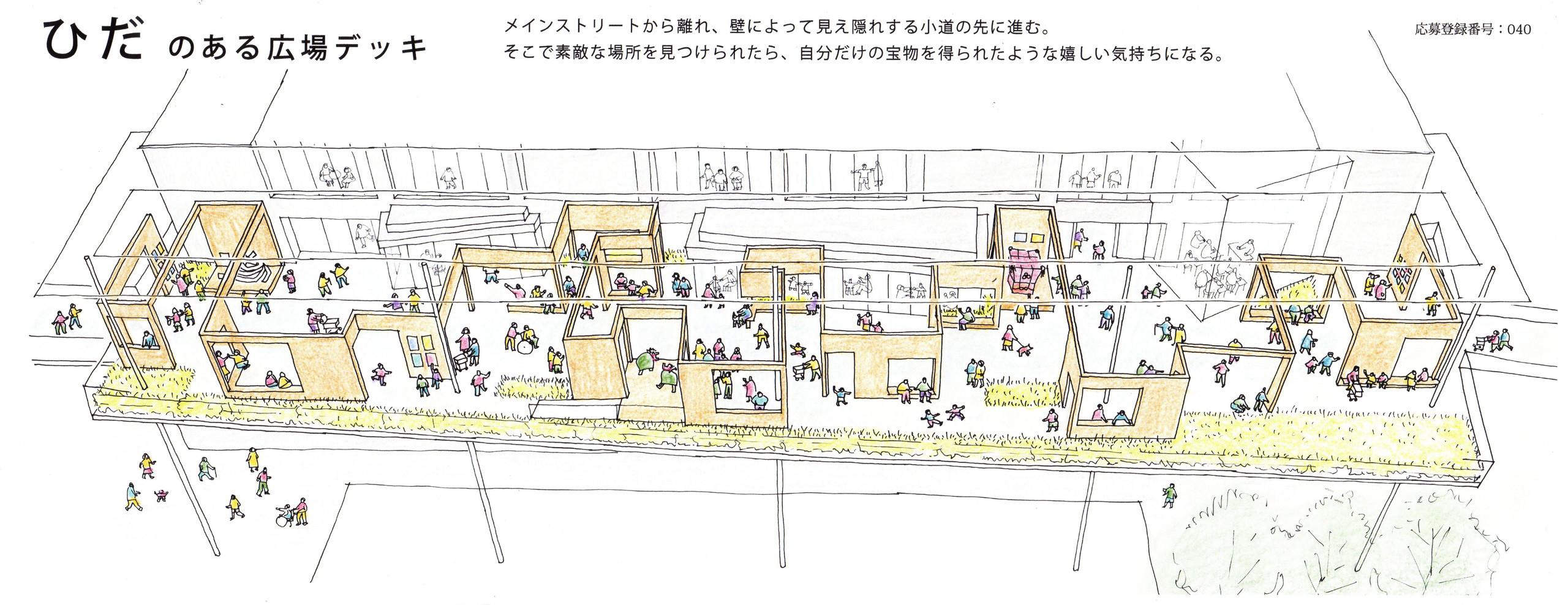 DBH_ひだのある広場デッキの建築事例写真