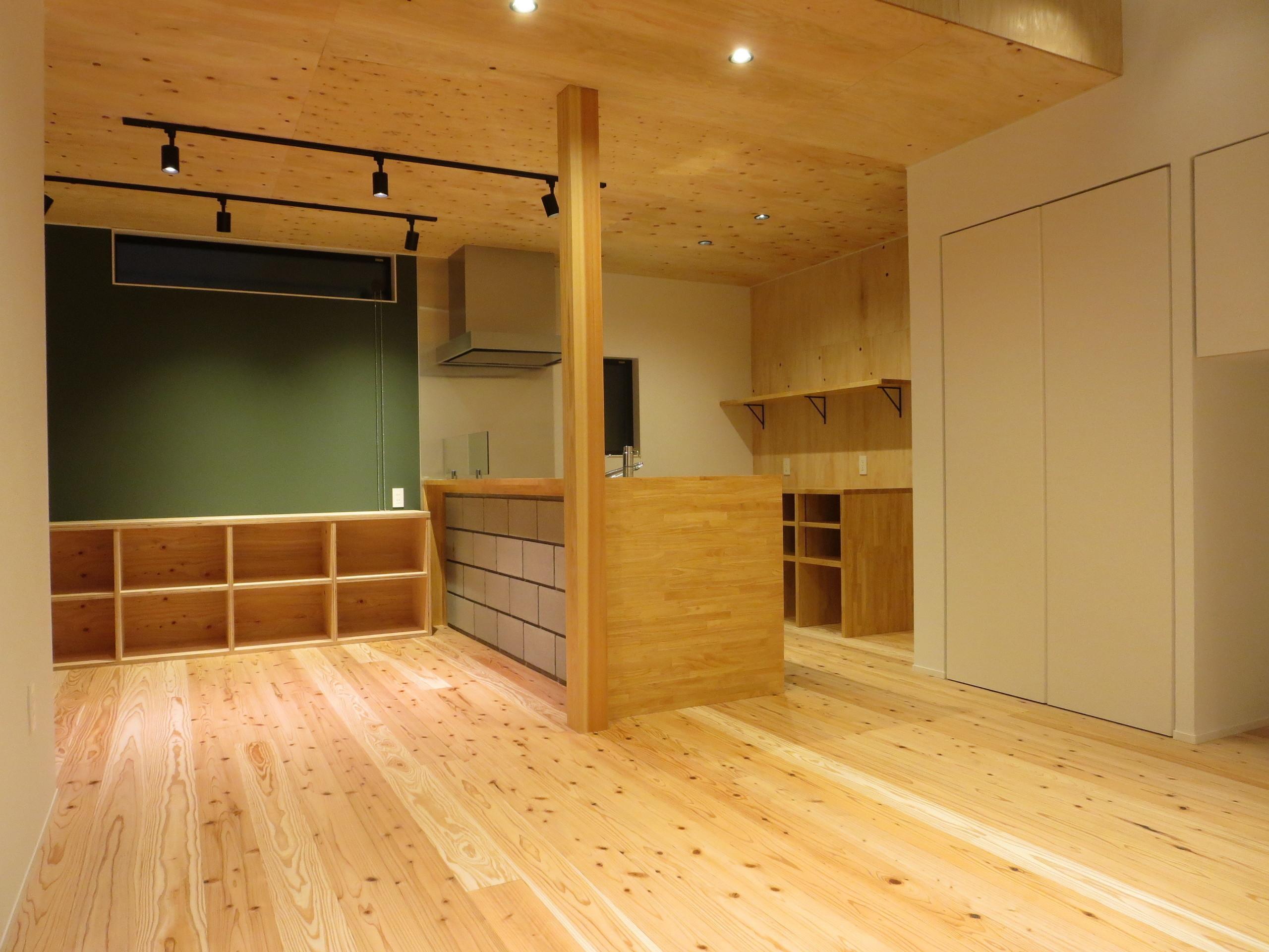 素材を楽しむ家の建築事例写真
