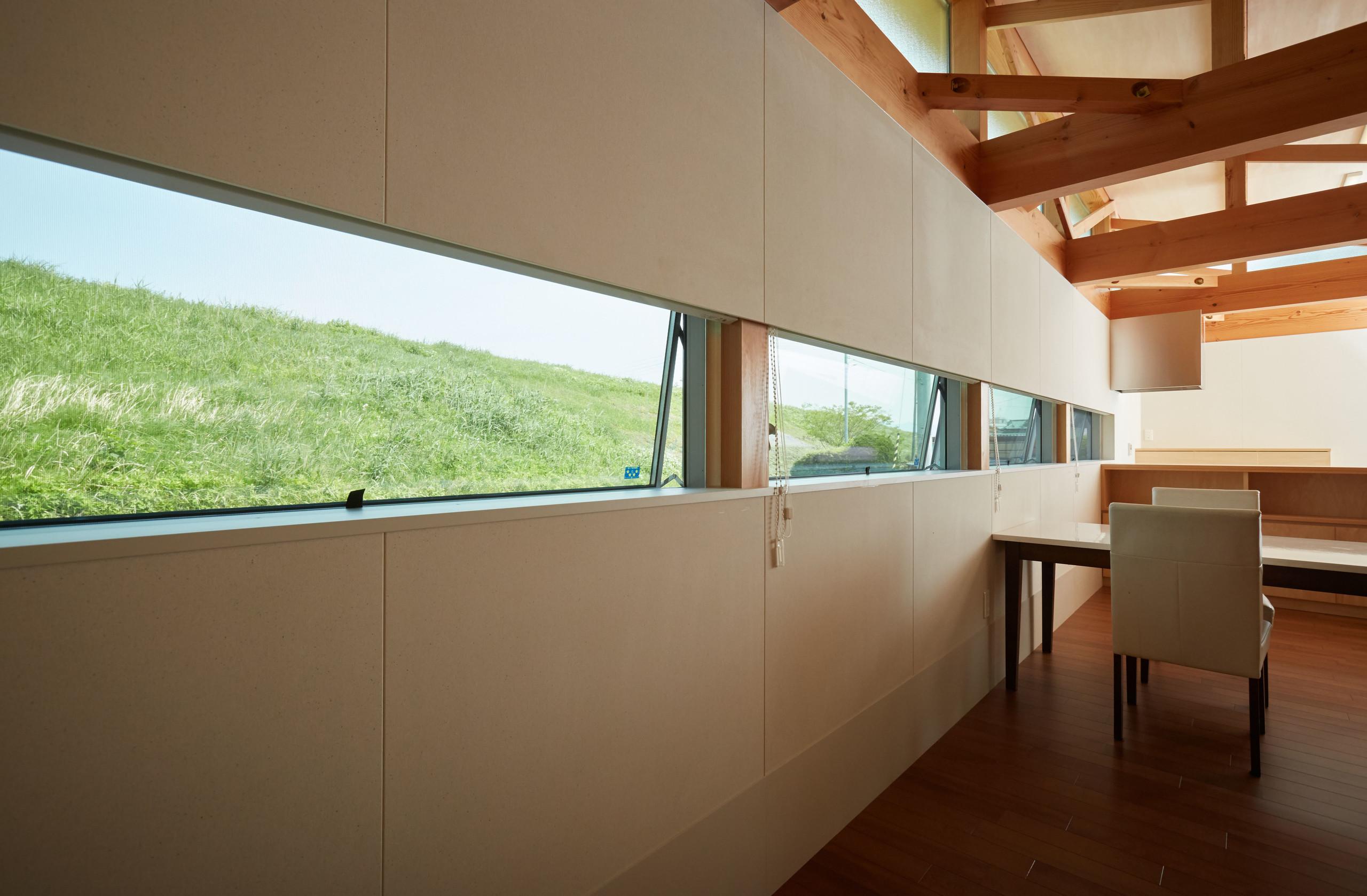 木組みの住まい 借景 バリアフリー 終の棲家の建築事例写真