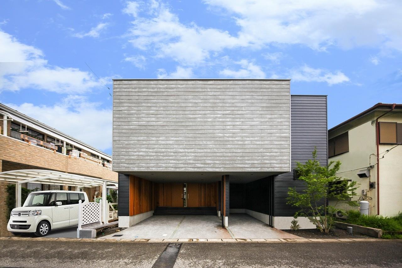 アウトサイドリビングの家の建築事例写真