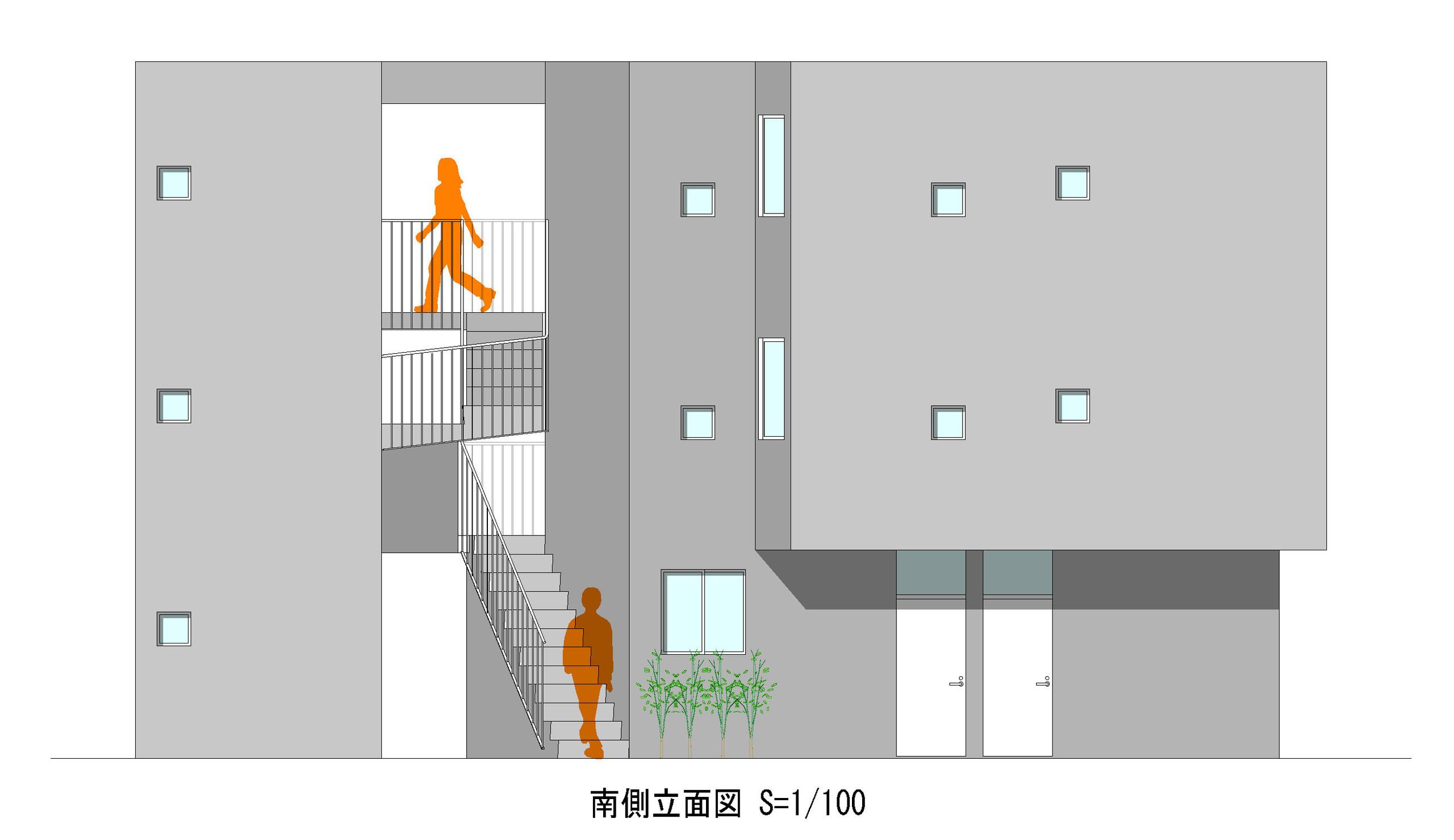 中川の集合住宅の建築事例写真