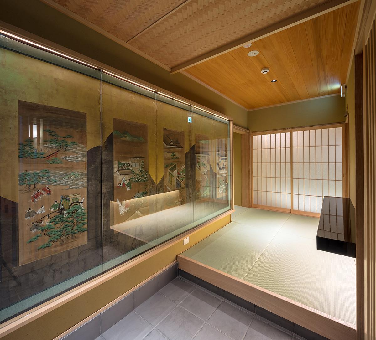 京都嵐山の温泉旅館(露天風呂付)の建築事例写真