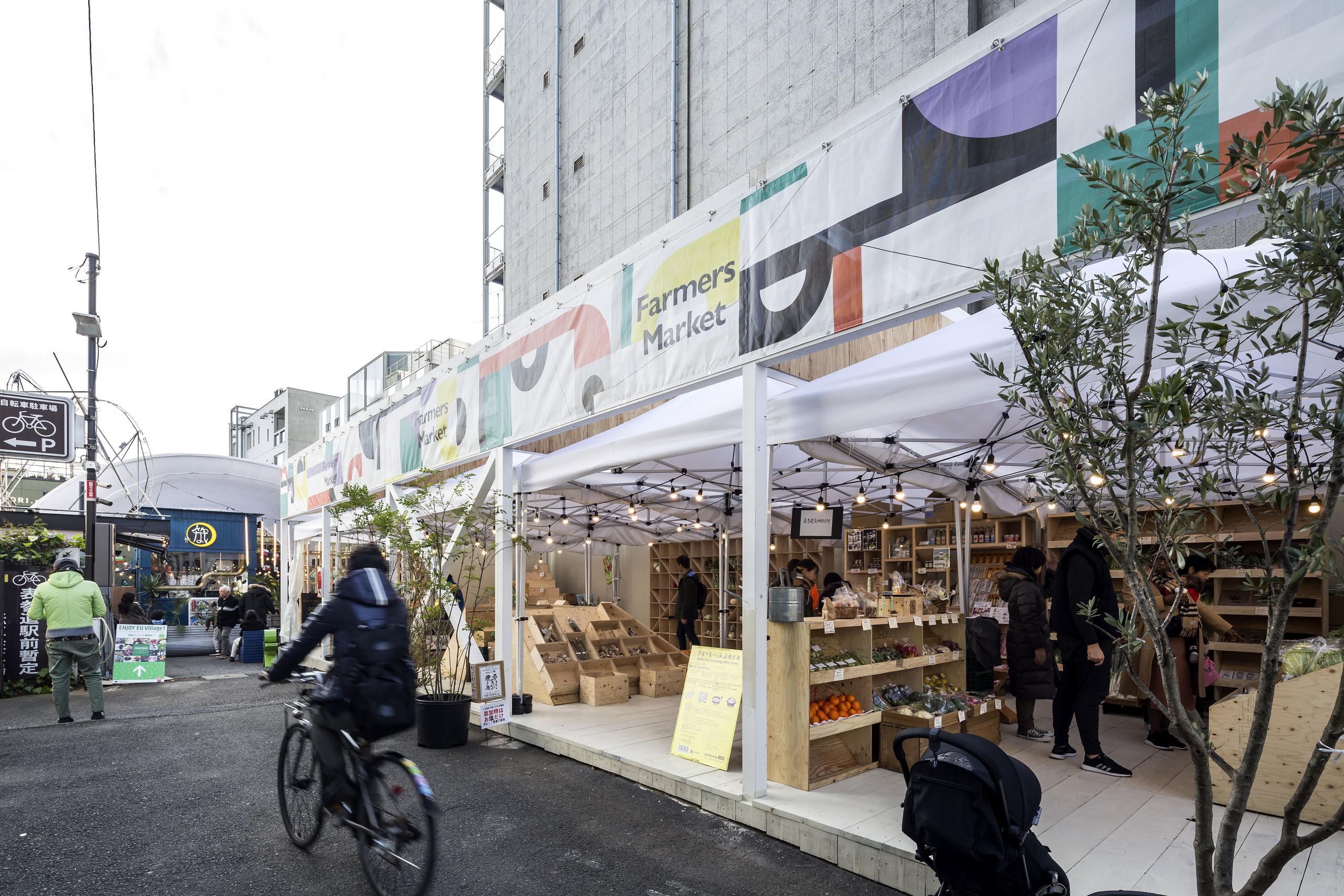 道を拡張したファーマーズマーケット / COMMUNEの建築事例写真
