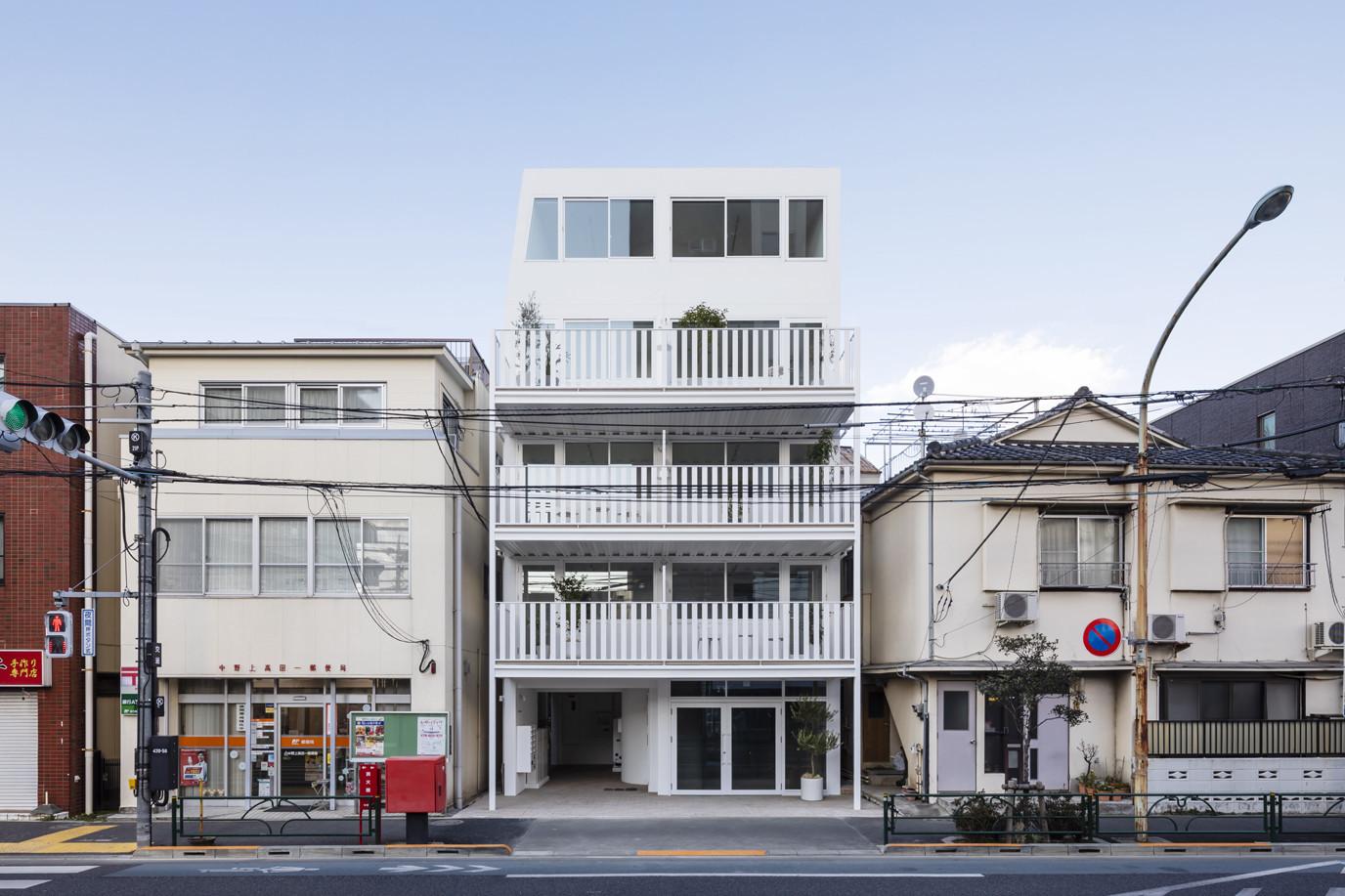 早稲田通りの集合住宅の建築事例写真
