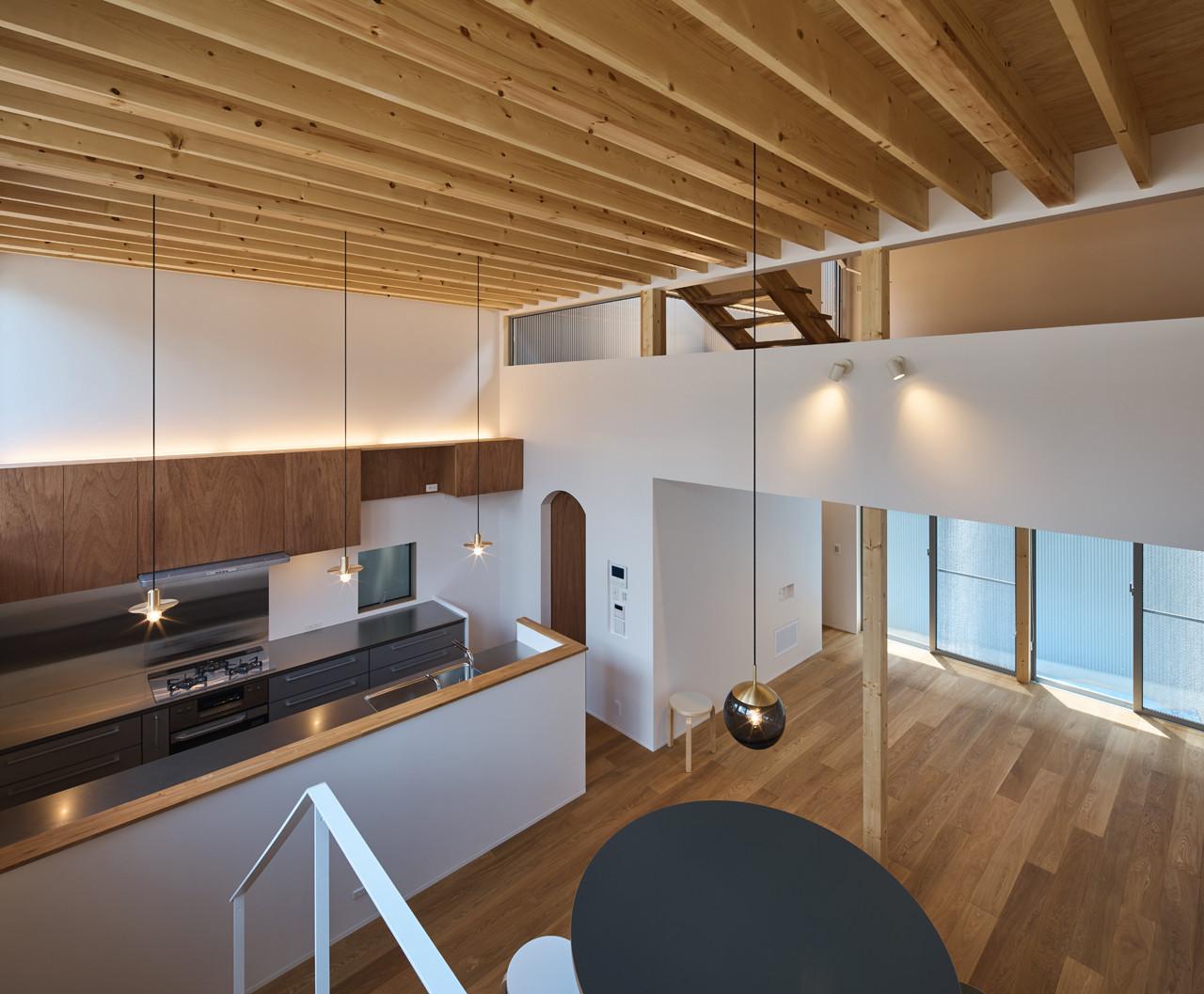 スキップフロアの住宅の建築事例写真