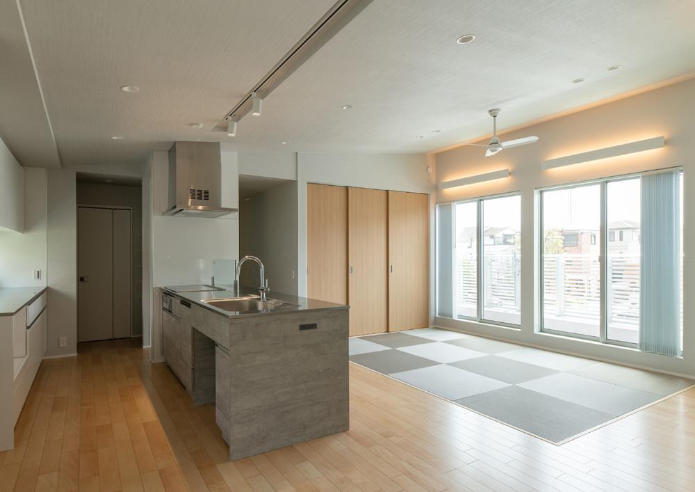 防災を見据えた2世帯住宅(東京)の建築事例写真