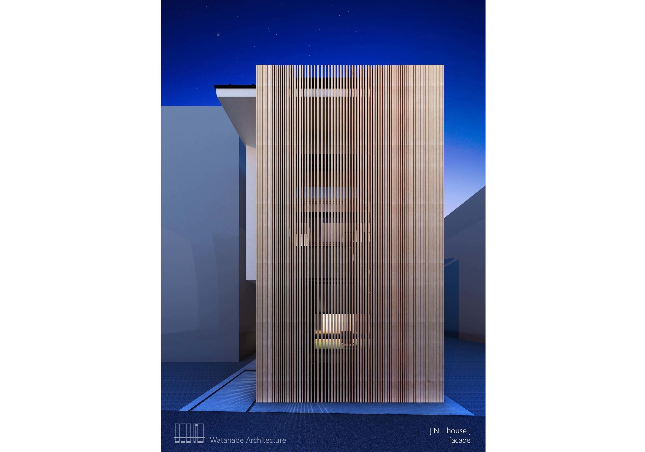 間口5m敷地の家(計画中)の建築事例写真