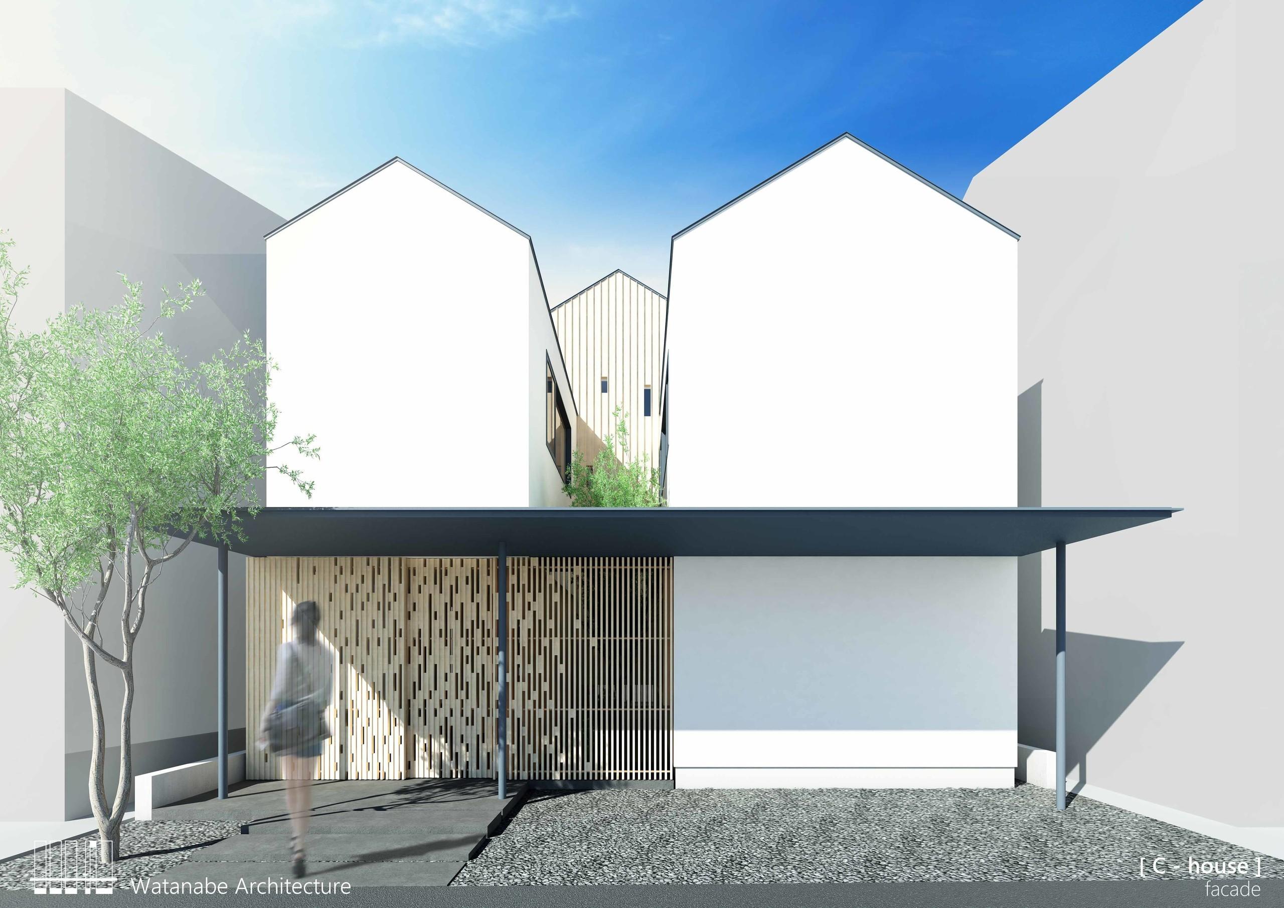流れる光の家の建築事例写真