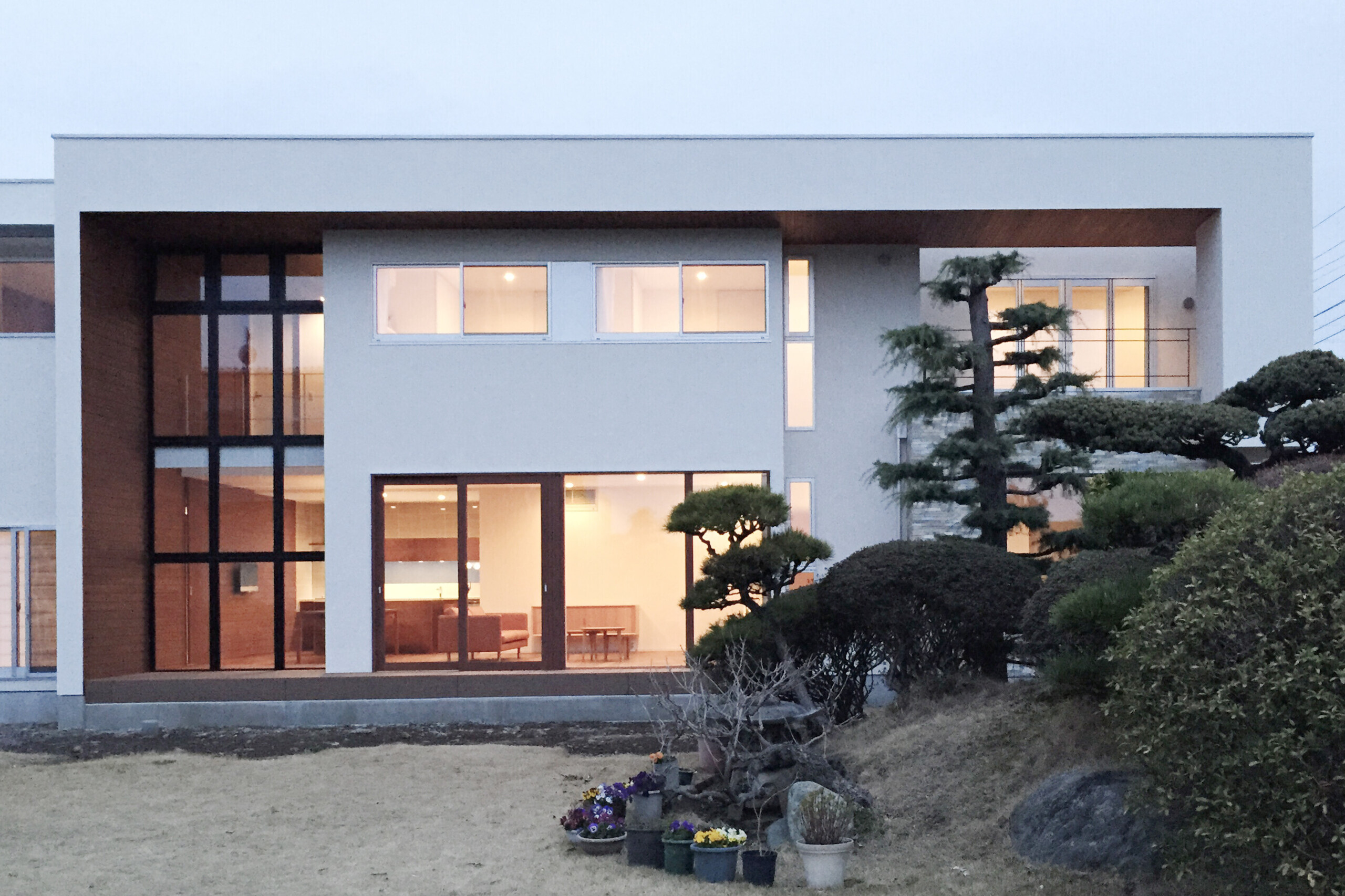 二世帯住宅の建築事例写真