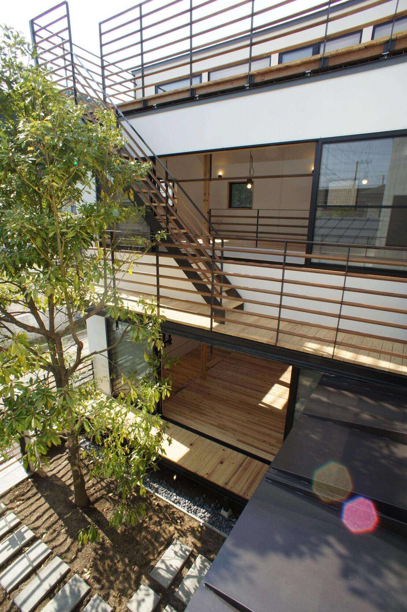 Kamakura130 / 中庭型の鎌倉の住宅の建築事例写真