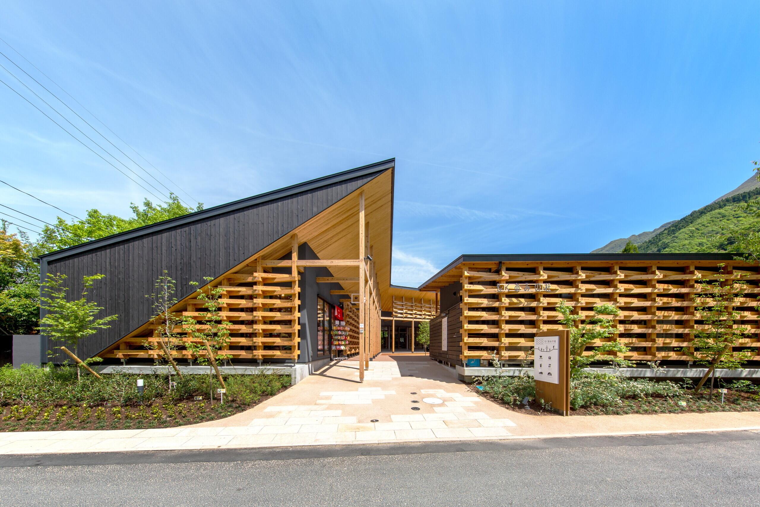 木造テナント施設「もくあみの杜」の建築事例写真