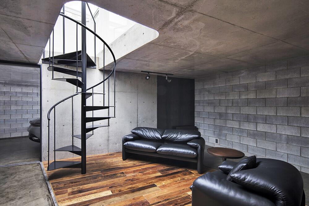 The garage・補強コンクリートブロック造の建築事例写真