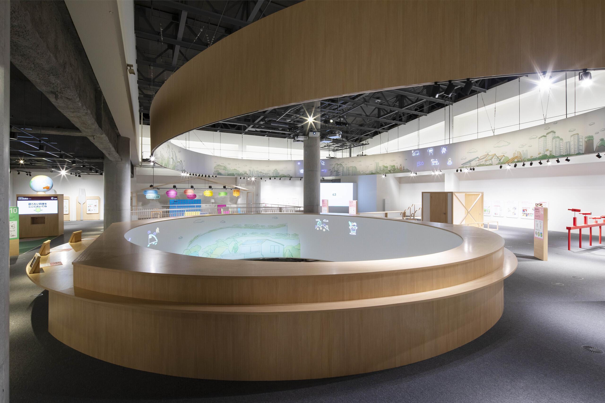 museum G_ リングの積層の建築事例写真