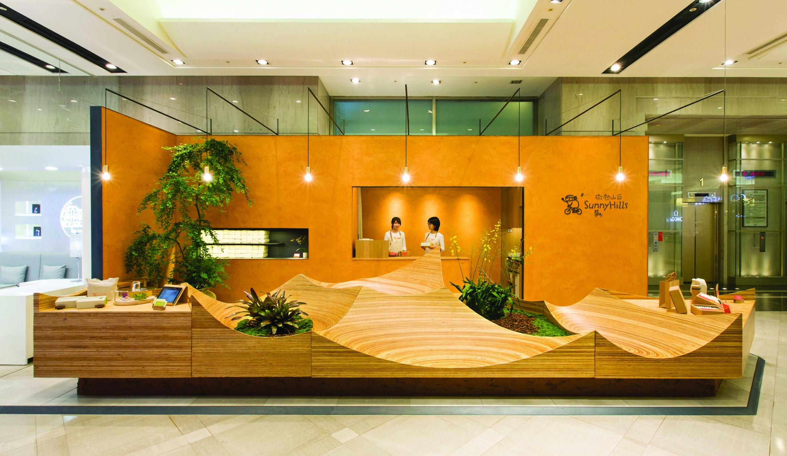 shop SH2 _風景のテーブルの建築事例写真