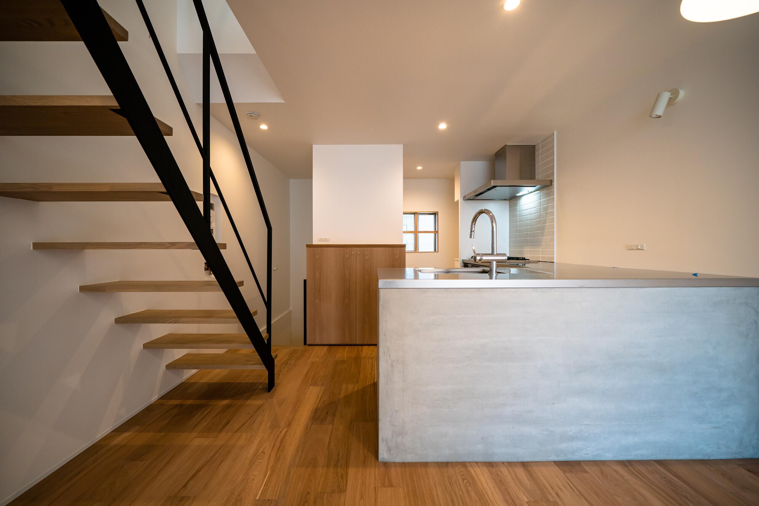 奥行きのある家(リノベーション)の建築事例写真
