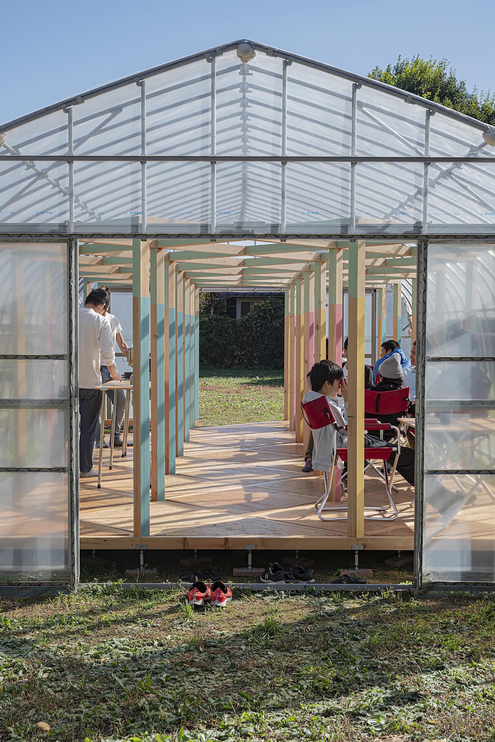 【GREEN BASE】農地の中のイベントスペースの建築事例写真