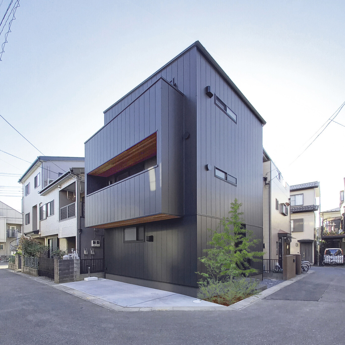 光階段の家の建築事例写真