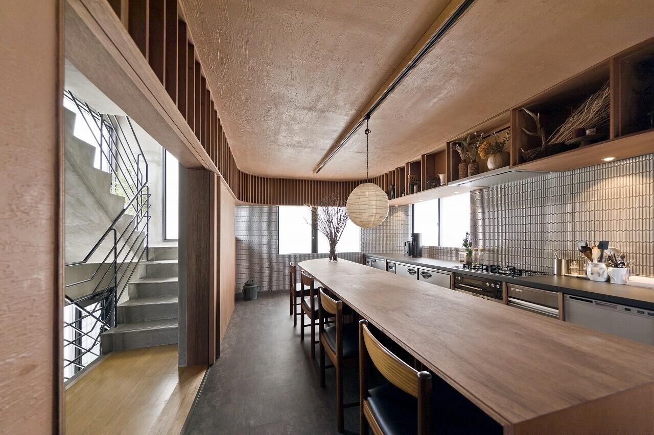 鎌倉の飲食併用住宅の建築事例写真
