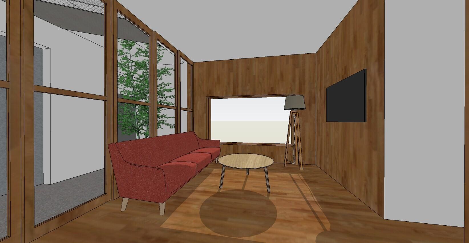狭小+旗竿敷地のコンパクトハウスの建築事例写真