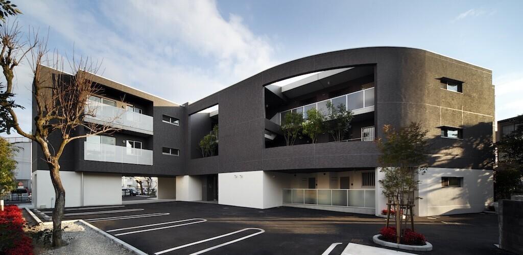 緑を取り込んだ集合住宅の建築事例写真