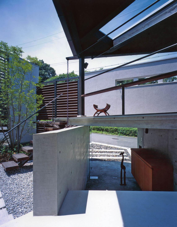 ステップテラスの家の建築事例写真