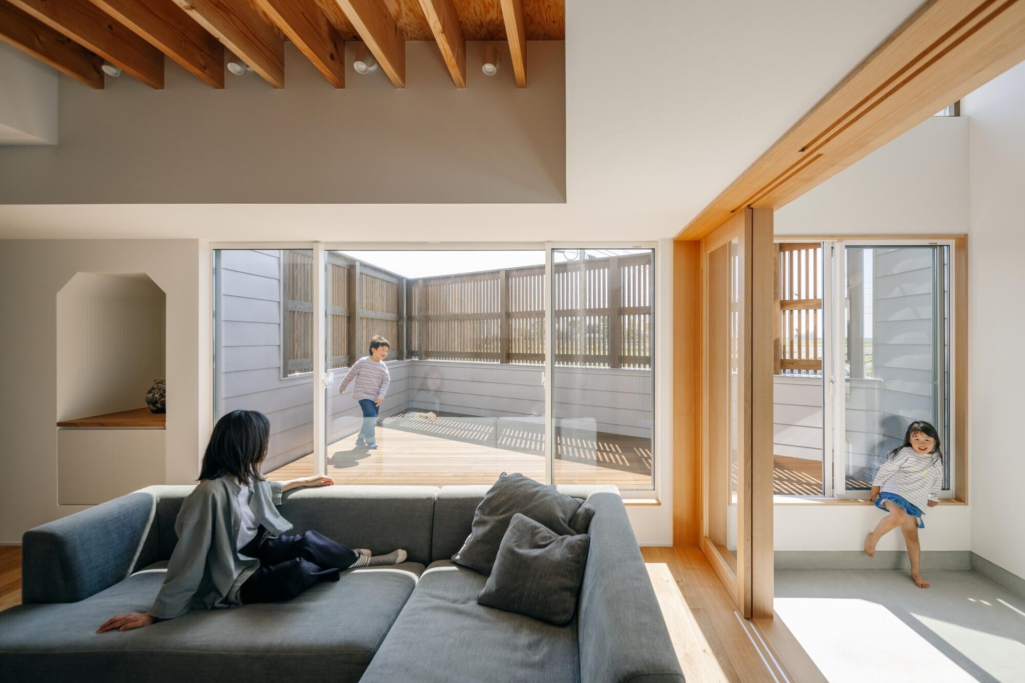 デッキテラスのある家|House Mの建築事例写真